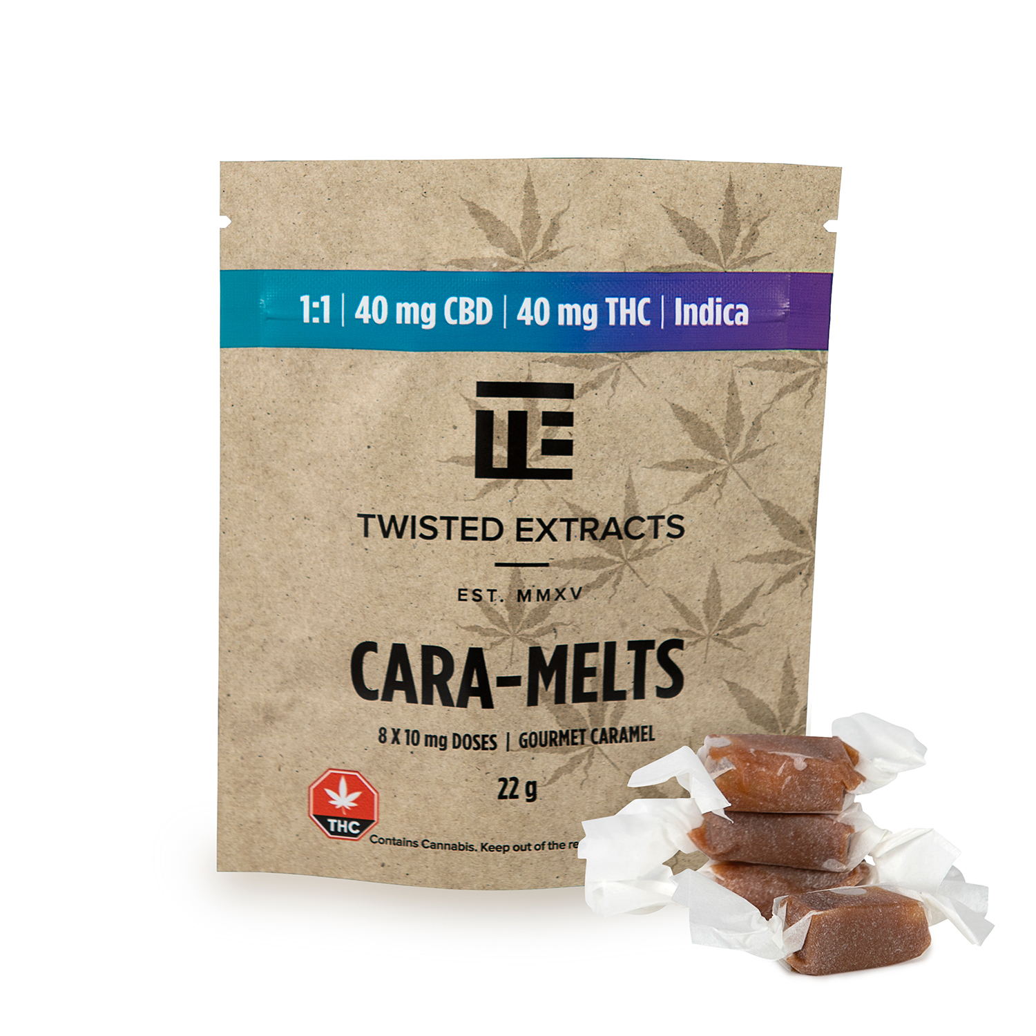 Twisted Extracts - Cara-Melts - 1:1 - Indica