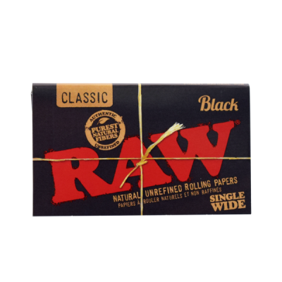 Raw Black - Single Wide Rolling Papers DW