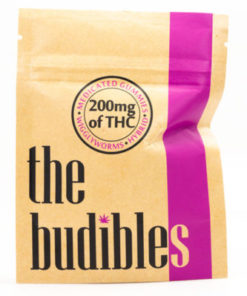 budibles medicated thc wiggly worms candy